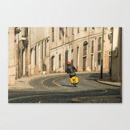 Vespa curve  Canvas Print