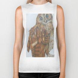 Tawny owl. Biker Tank