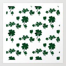 Luck of the Irish Four Leaf Clover Art Print