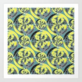 Black and yellow pattern Art Print