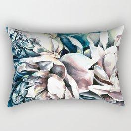 Peonies watercolor painting Rectangular Pillow