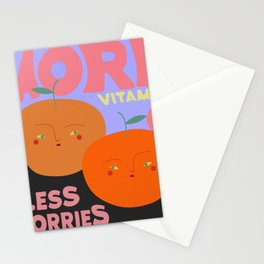 more vitamin C, less worries, pls Stationery Cards