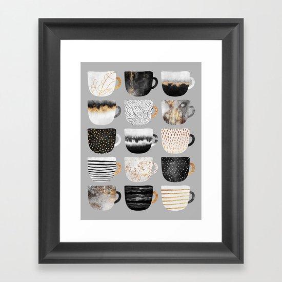 Pretty Coffe Cups 3 - Grey by elisabethfredriksson
