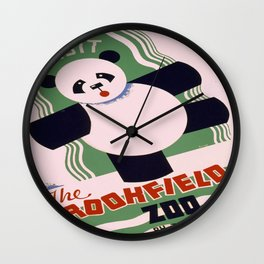 Vintage poster - Visit the Brookfield Zoo Wall Clock