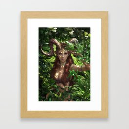 Bariaur In The Forest Framed Art Print
