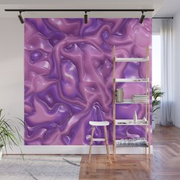 Shimmering abstract plastic,pink Wall Mural