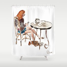 Coffee in Rice Village Shower Curtain