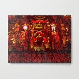 The Red Room of Emperor Huángsè Metal Print