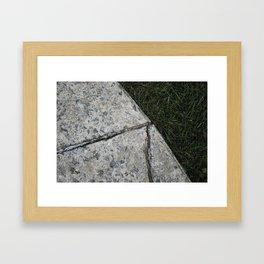cracks Framed Art Print