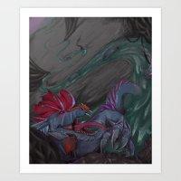 cyberpunk Art Prints featuring Cyberpunk Serpent by suaveassassin