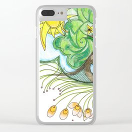 Tree 1 with Petals Clear iPhone Case