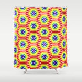 Pride Honeycomb Shower Curtain