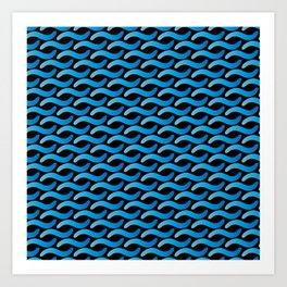 Aqua Waves Art Print