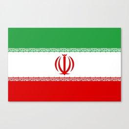 flag of iran- Persia, Iranian,persian, Tehran,Mashhad,Zoroaster. Canvas Print
