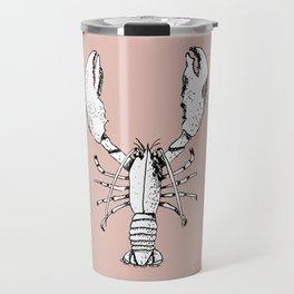 Pink lobster pen & ink Travel Mug