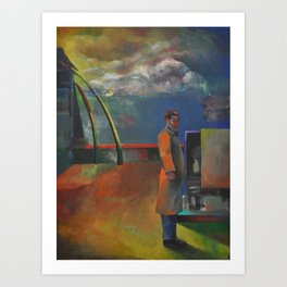 Isolated Contemplation Art Print