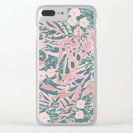 Tropical Daydream Blush Green Clear iPhone Case