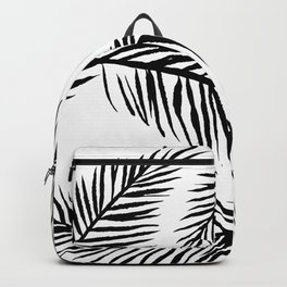 Black & White Palm Leaves Backpack