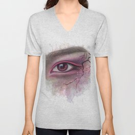 Floral eye Unisex V-Neck