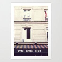 Paris, Apero Bistro Resto Art Print