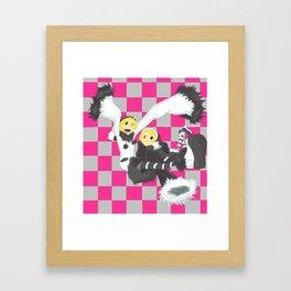 Loki and Noki (BW) Framed Art Print