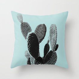Cactus in blue Throw Pillow
