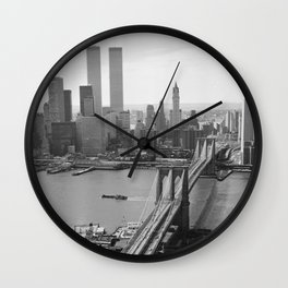 Looking NW Towards Manhattan / Twin Towers Wall Clock