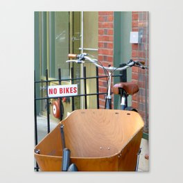 No Bikes Canvas Print