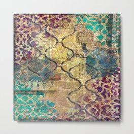 Morocco mixed media, travel, explore, journey Metal Print