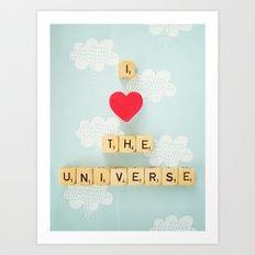 I Heart The Universe Art Print