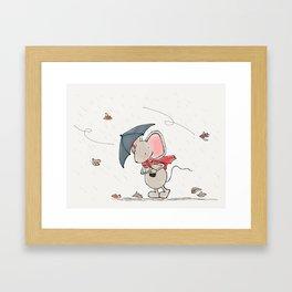 Little Mouse - Autumn Framed Art Print