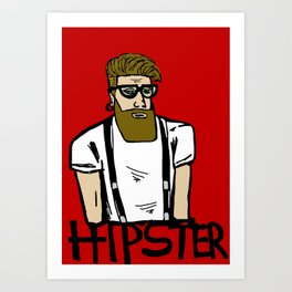 Hipster icon Art Print