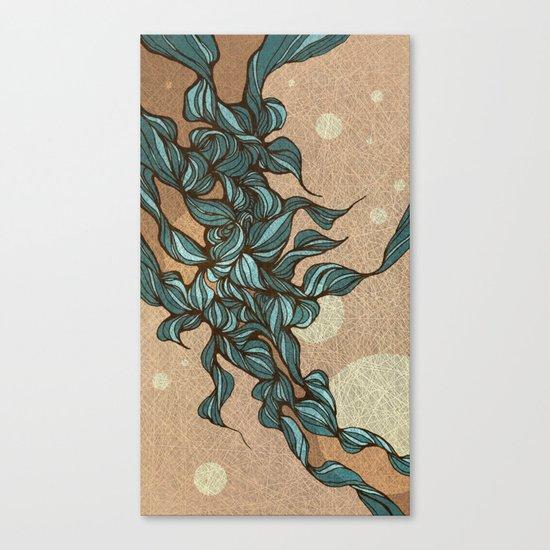 Waves #4 beige Canvas Print