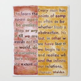 Walden, from The Geography Series Canvas Print