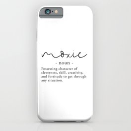 Moxie Definition - Minimalist Black iPhone Case