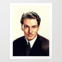 Sir Laurence Olivier, Vintage Actor Art Print