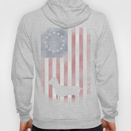 Distressed betsy ross dachshund 4th of july Hoody