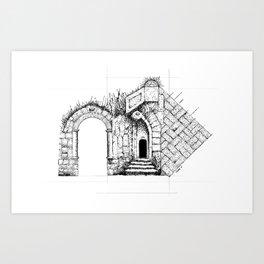 Ruin Study Art Print