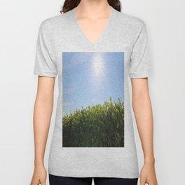 Summer Photos, Nature Photography, fine art gifts, Landscape Photo, sunshine photo Unisex V-Neck