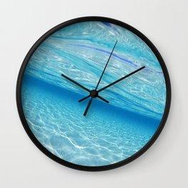 Beach Ocean Water Waves Photography Blues Underwater Pool Wall Clock