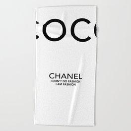 Coco Fashion black & white Beach Towel