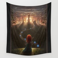 brave Wall Tapestries featuring Brave by Westling