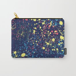 Abstract pink blue yellow watercolor splatters motif Carry-All Pouch
