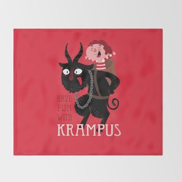 Have fun with Krampus Throw Blanket