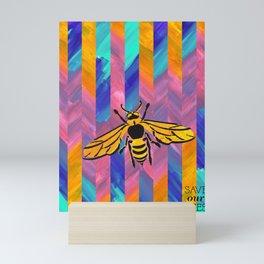 Save Our Bees No. 1 Mini Art Print