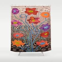 Bag Of Flowers Shower Curtain