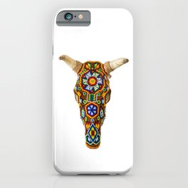 Huichol Bull Skull iPhone Case