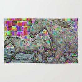 wild glitch horses Rug