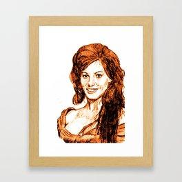 Claudia Cardinale Framed Art Print