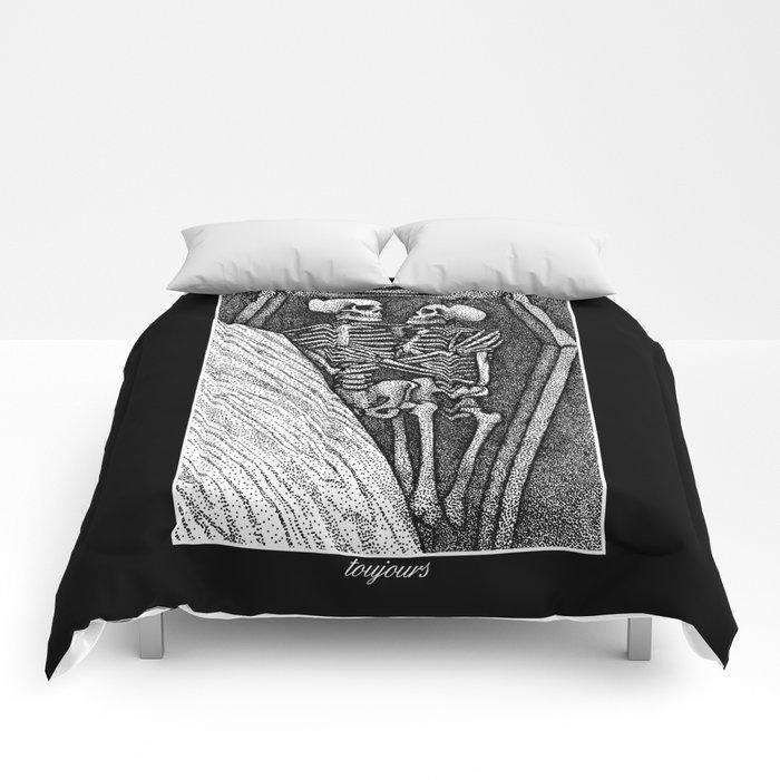 Toujours - Skeleton Lovers Comforters
